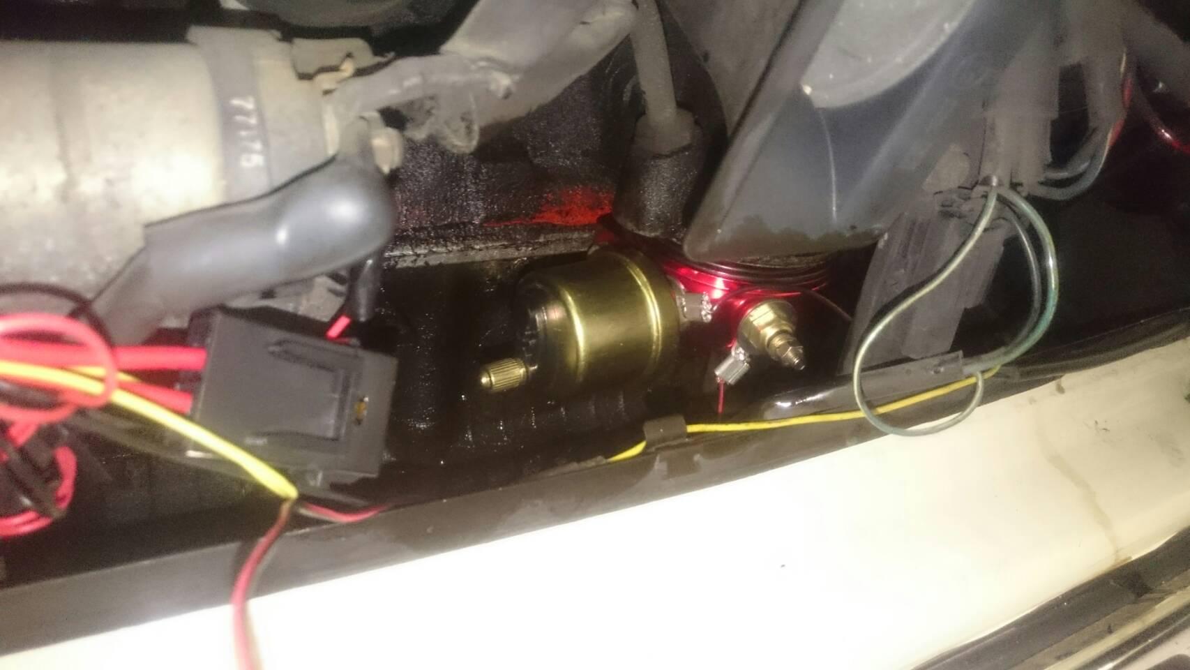 ローバーミニ 油圧、油温センサー取付