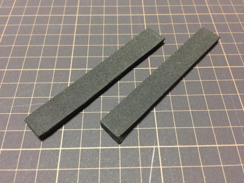 縦10cm横1.3cm厚さ5mmで2個作成