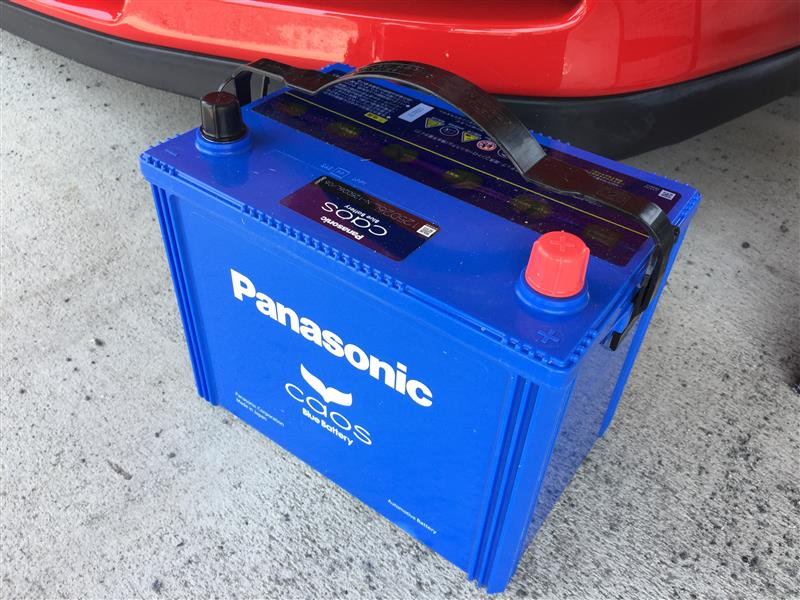 12Vバッテリー交換 Panasonic CAOS