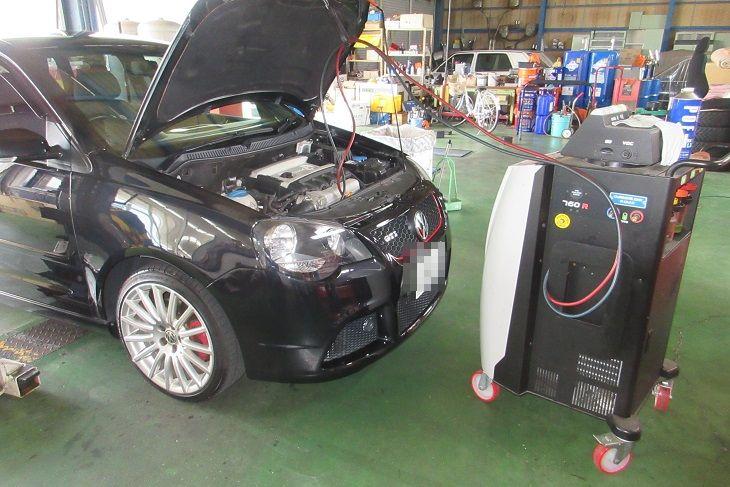 TEXAエアコンクリーニング VW 9N POLO GTI エアコンガスチャージ
