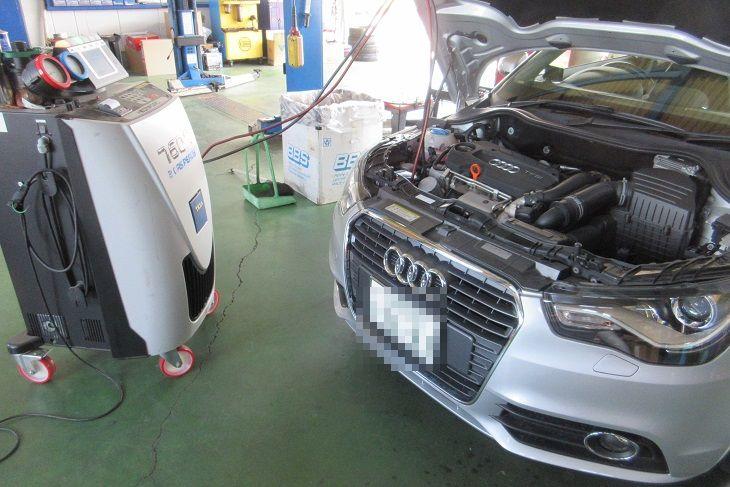 メンテナンスは大事..AUDI A1 エンジンオイル交換+TEXAエアコンクリーニング