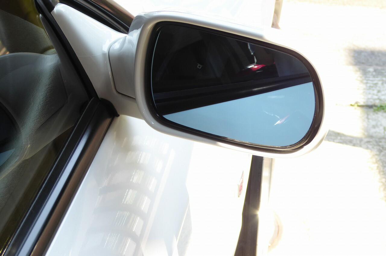広角レンズ ブルーミラー スカイラインGTR BNR32 ワイドミラー 取り付け