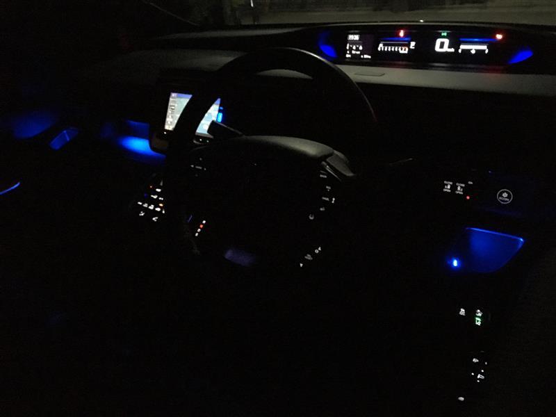 LED紫→青へ