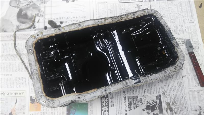 オイルパン オイル漏れ修理