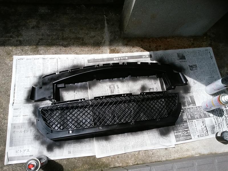 E46 318i バンパー補修・塗装・交換③