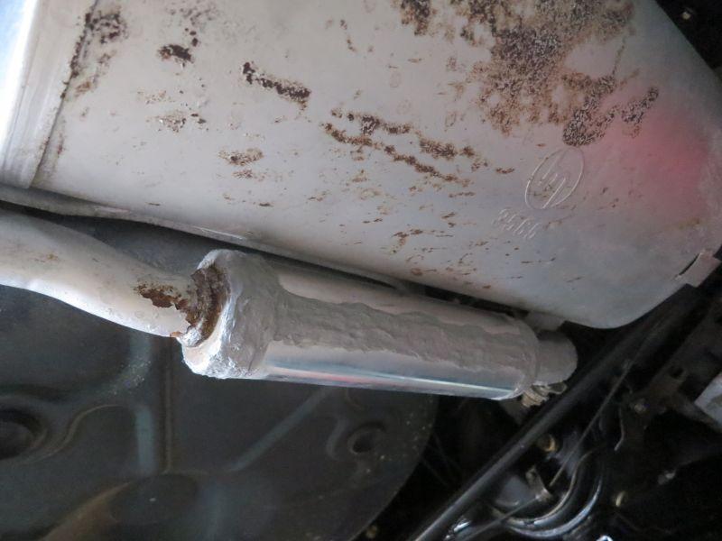 サーマルリアクターの排熱パイプの補修