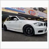 BMW:E82-135iに17インチ(レーシングダイナRD3)をお取り付け!