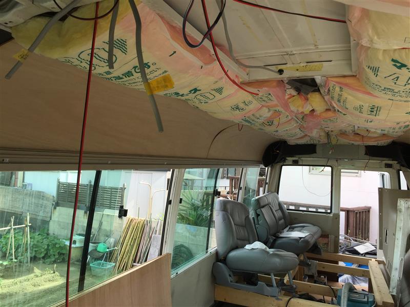 幼稚園バスを事務室車に自作改造5