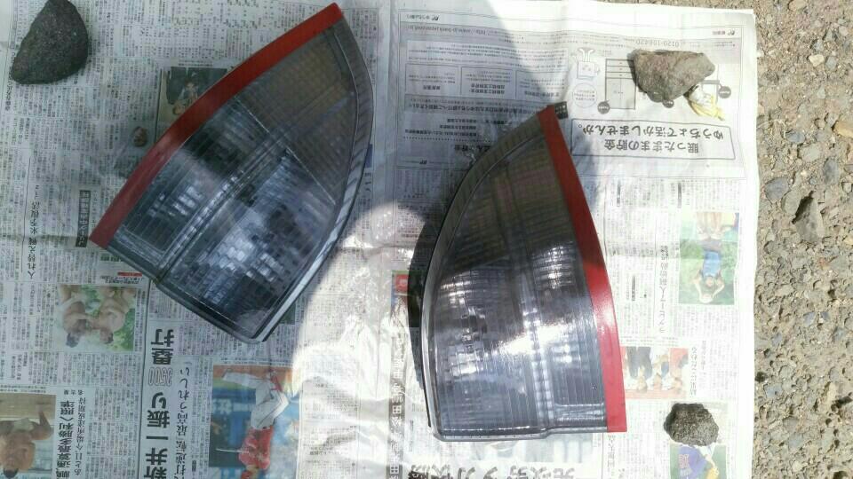 ヘッドライト&テールランプのスモーク塗装