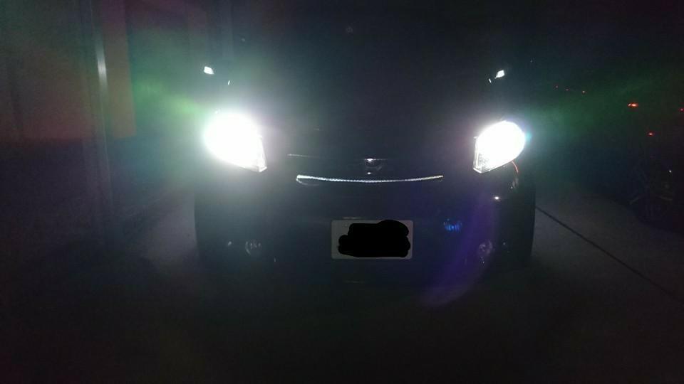 LEDヘッドライト取り付け完成編