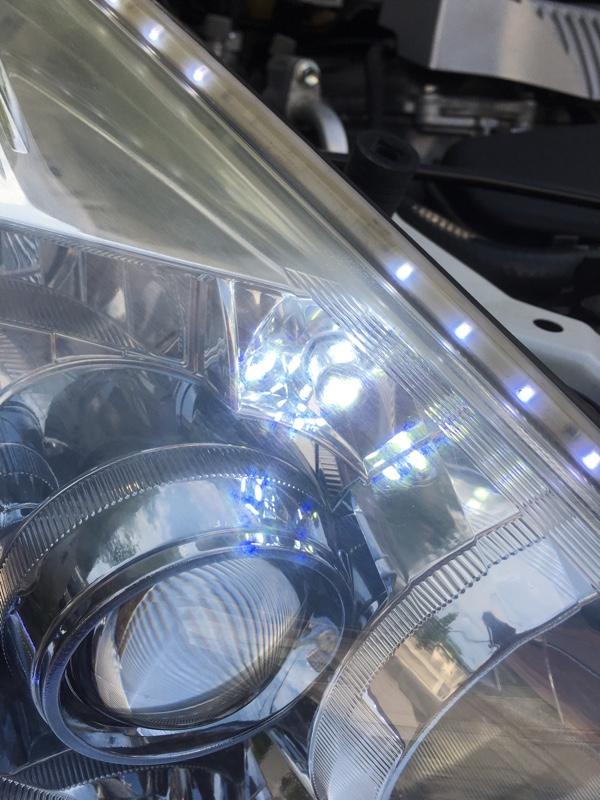 fcl LED SMD T10 10連バルブ取付け