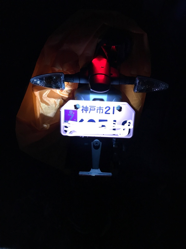 ライセンスプレートランプ再LED化