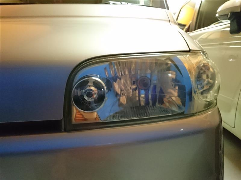ヘッドライト磨き コーティング