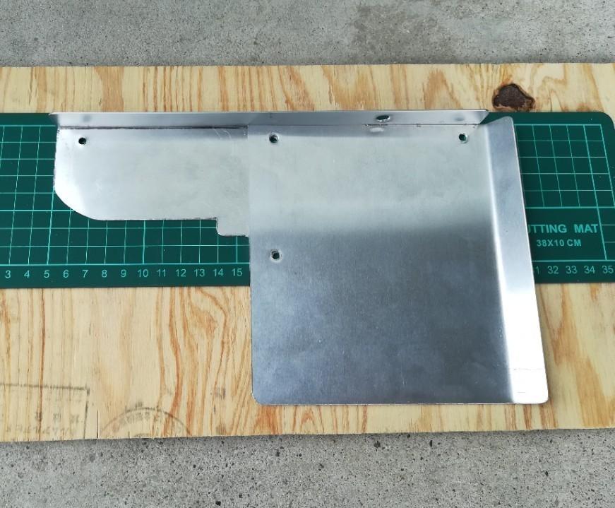 タービン遮熱板の製作&仮装着&試走