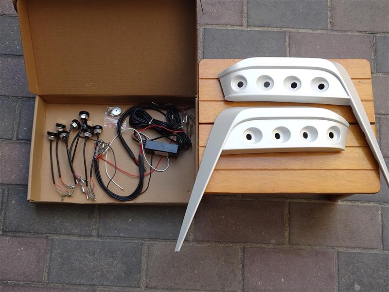 30系 ヴェルファイア LED 埋め込みデイライト 取付 その1
