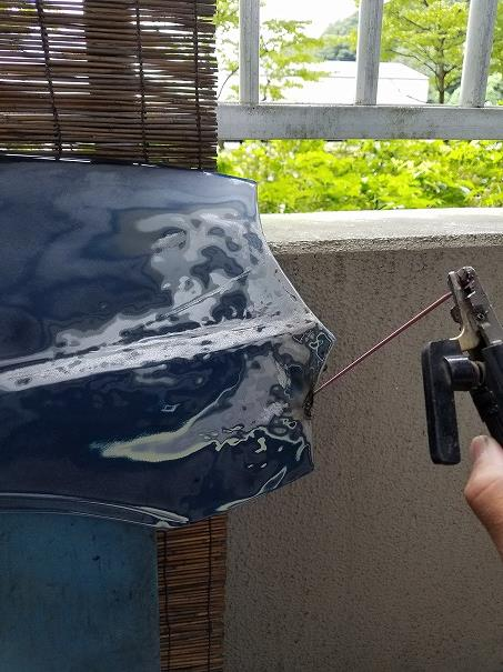 H31Aミニカトッポ事故 板金塗装