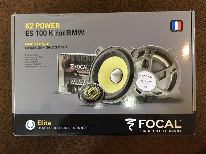 FOCAL ES100K for BMW スピーカー取り付け