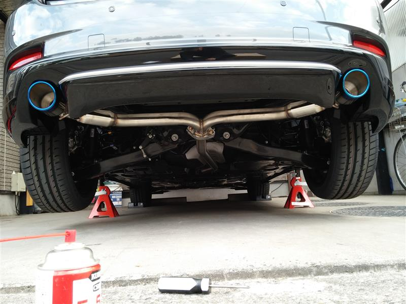 Odula RS-specマフラー取付