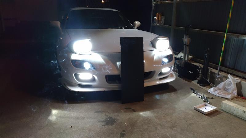 ヘッドライト&スモールLED化+LEDフォグ追加