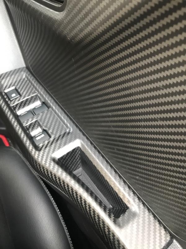 AXIS-PARTS ドライカーボン製スイッチパネルカバー(艶消し)