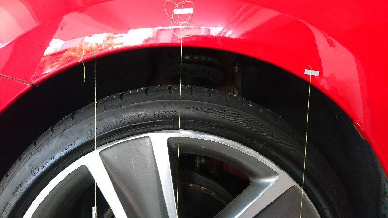 タイヤはみ出し測定