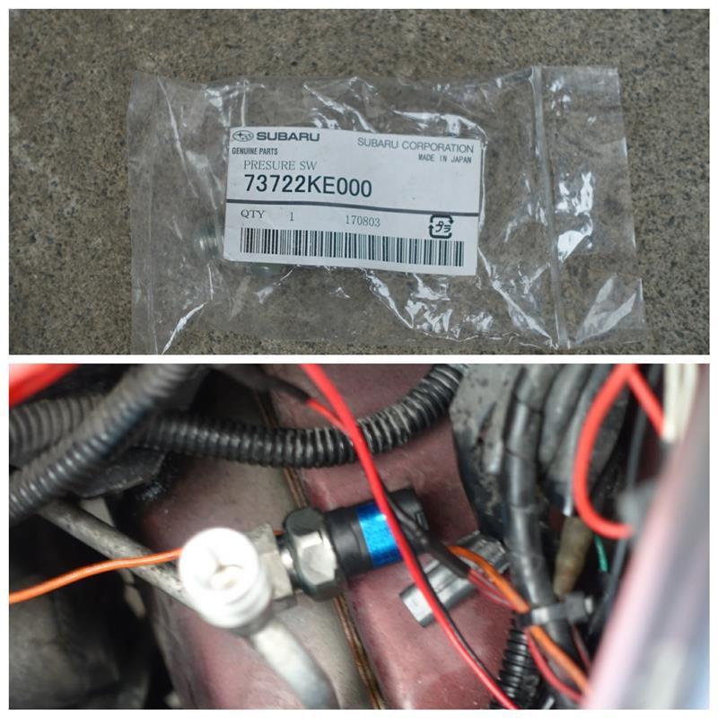 エアコンのPRESURE SWの交換とガスチャージ&添加剤の注入 🔧