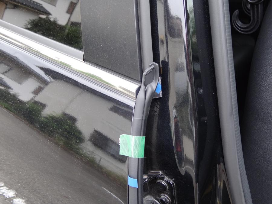 レクサスGS用ウェザーストリップ 取り付け及び、取り付け位置考察