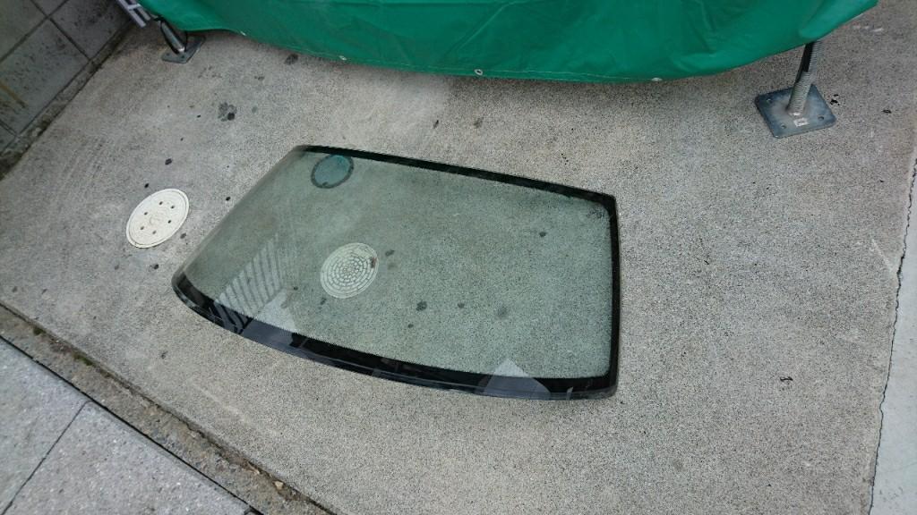 フロントガラス撤去