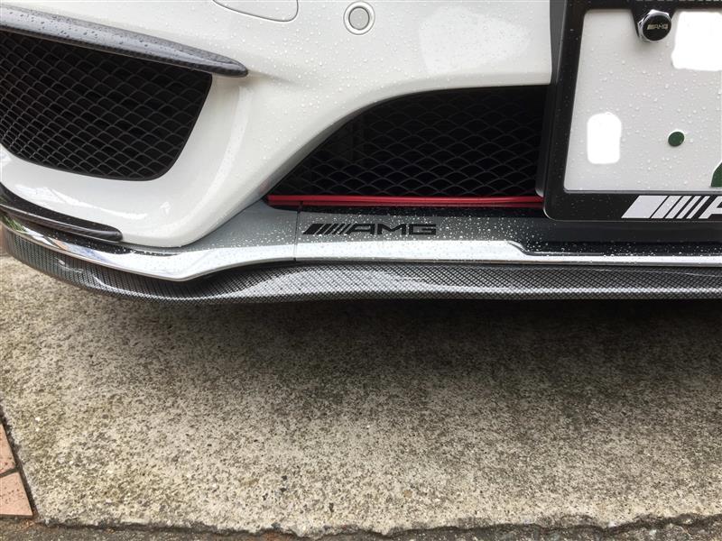 カーボン調フロントリップスポイラー取付