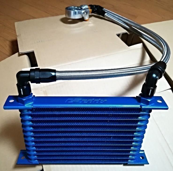 トラストGReddy オイルクーラーキット(STD) ジムニー [JB23W] (2005/10 〜 2010/08) 12段 エンジン上置きMT車用を前置きに設置