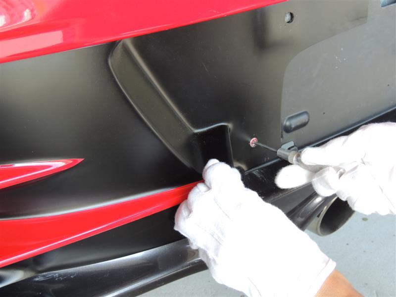 Jmode S660無限アンダースポイラー装着車専用リアガーニッシュダクト付取り付け方