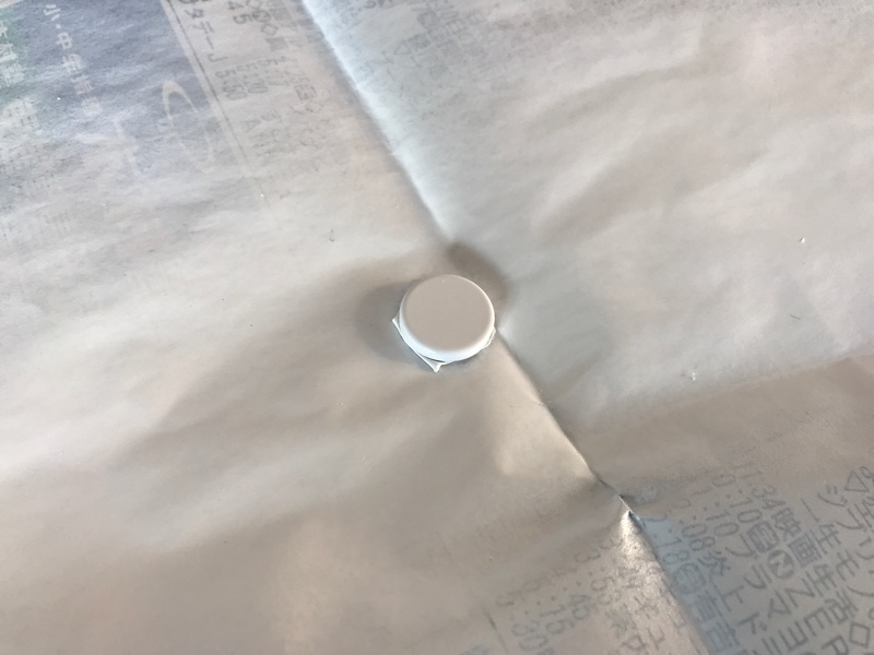 自作キーホールカバー(ダイソーネオジム磁石)