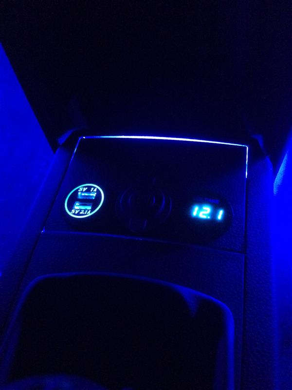 サイドブレーキ周辺LED追加&シガーソケット増設(3連化)ep.2