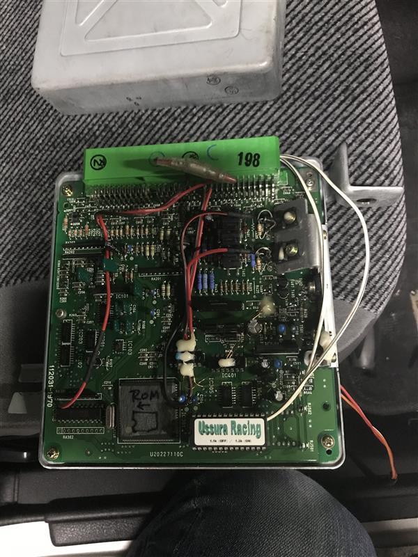 箱替12 ECU ROM交換 1.3K仕様 AF計取付 プレオ用SC変換ブラケット改良版作成