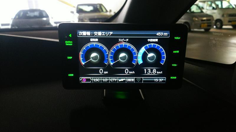 GPSレーダー探知機【COMTEC ZEROー803V】取り付け