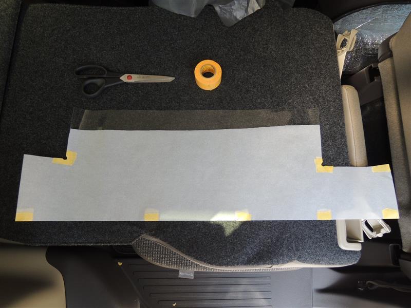 サイドシル傷付き低減シート貼り付け
