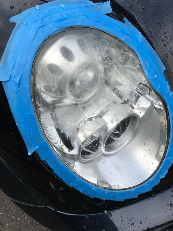 ヘッドライト 磨き