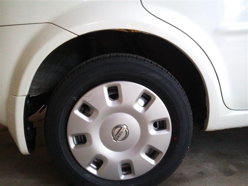 タイヤハウス錆補修