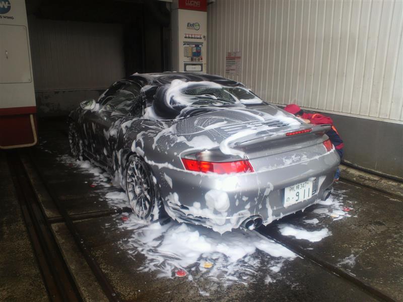GSで洗車