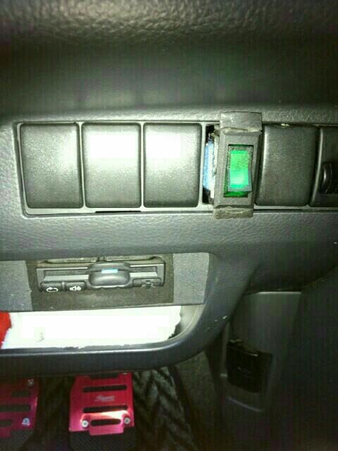 ETC本体オンオフスイッチ連動での照明追加