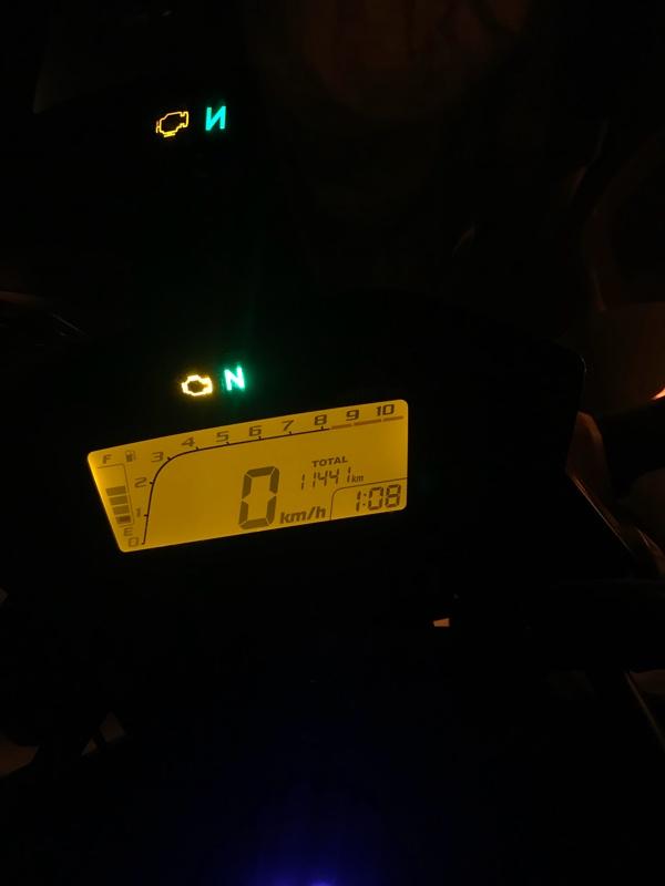 エンジン警告ランプ点灯