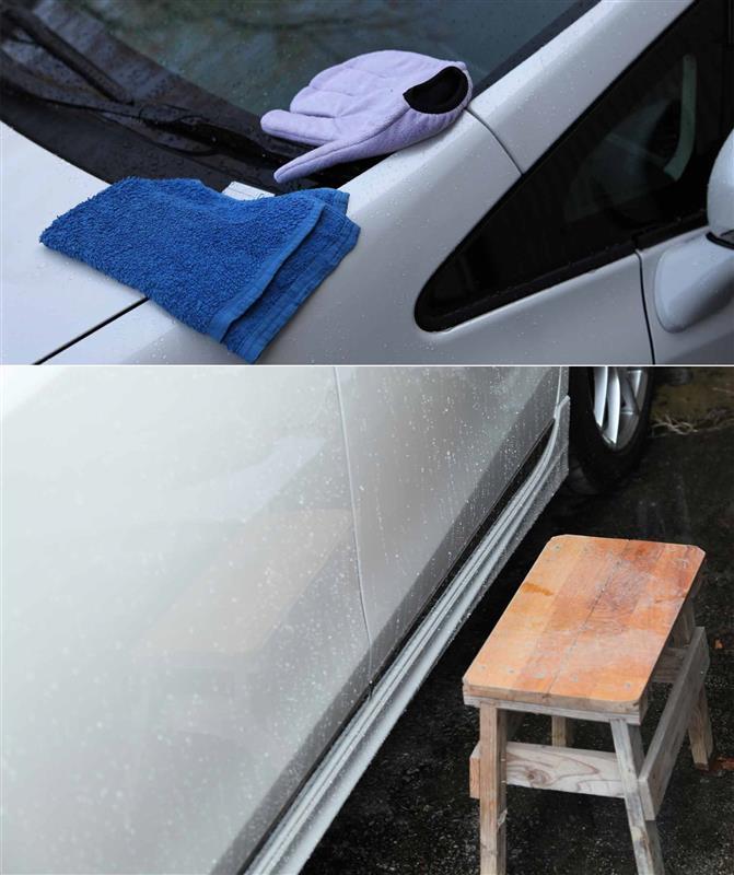 リハビリで洗車とコーティング~?∑(〇Д◎ノ)ノ