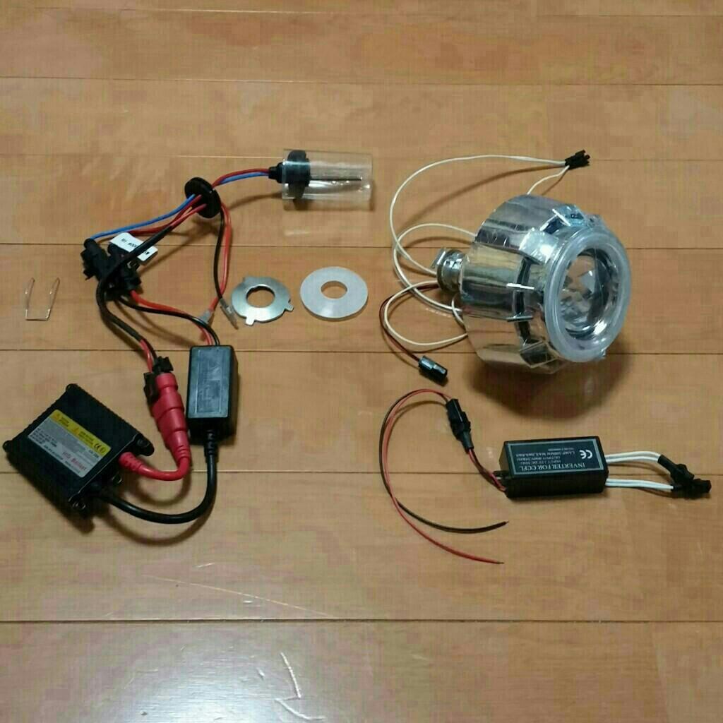 ヘッドライト加工 プロジェクター化①