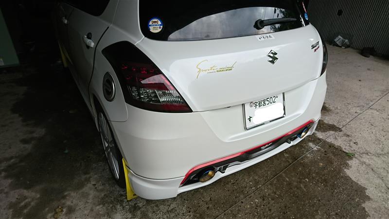 シャンプー洗車ブリス施工