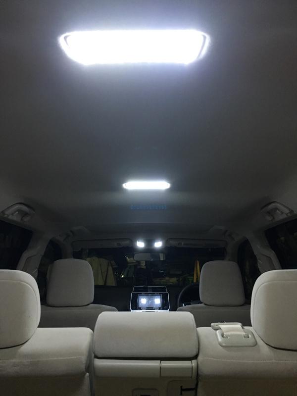 プラド後期 ルームランプ、ナンバー灯LED化