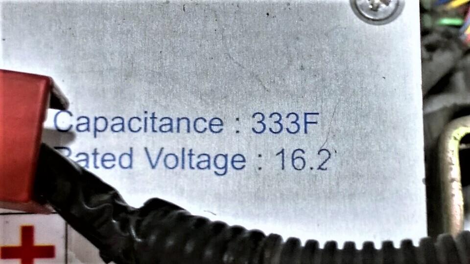 日産純正333Fキャパシタに換装