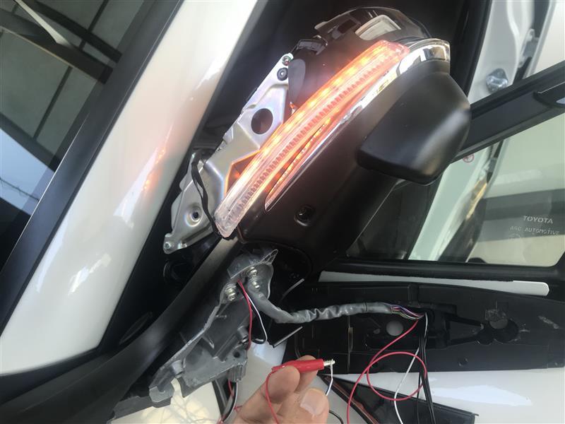 C-HR用自作サイドミラーシーケンシャルウインカー