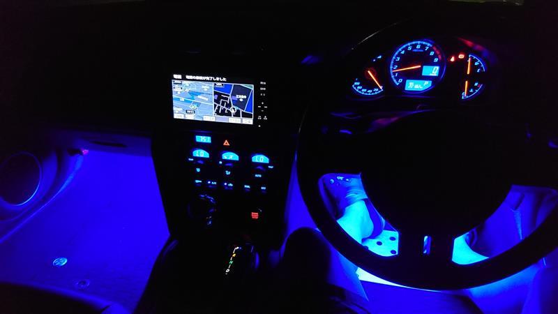 LEDフットライト色変更