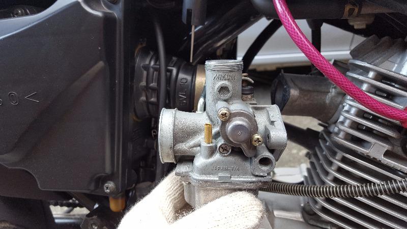キャブレター オーバーフロー 油面調整 YBR125