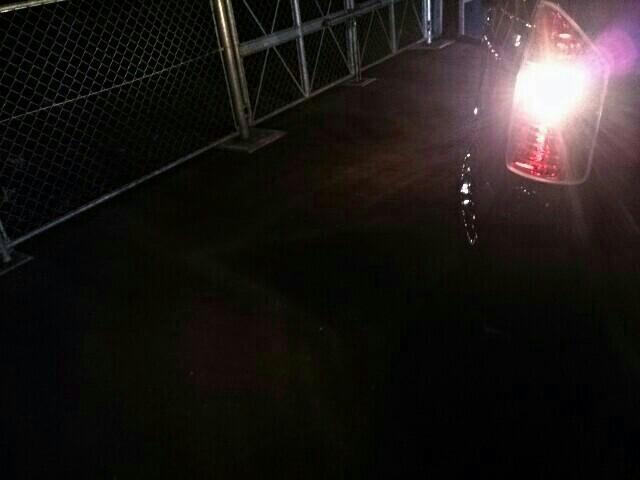 バックランプ交換 電球で白く